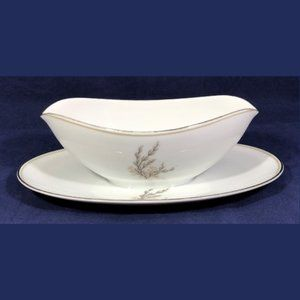 Gravy Boat with Attached Underplate Noritake